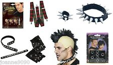 PUNK ROCK ROCKER 1980s 80's 1970s 70's FANCY DRESS COSTUME GOTH ACCESSORIES NEW