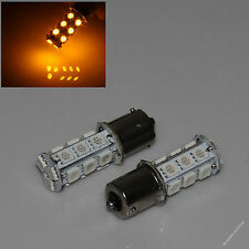Amber 1156 BA15S SMD 18 5050 LED Light Brake Bulb Car Stop Turn Tail DC 12V