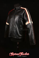 Men's WAR OF THE WORLDS Black Real Lambskin Leather Hollywood Hero Jacket