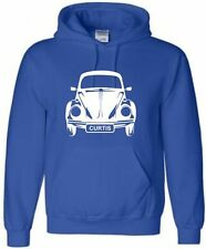 KIDS VW BEETLE PERSONALISED HOODIE  CAR HOODY WITH NAME HOODED SWEAT AGE 5-15