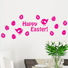 Happy Easter Shop Window Wall Sticker Chicks Eggs Decal Transfer Decorations