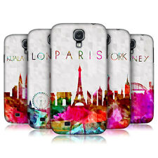 HEAD CASE WATERCOLOURED SKYLINE HARD BACK CASE COVER FOR SAMSUNG GALAXY S4 I9500