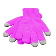 Unisex Womens Mens iPhone iPad Smart Touch Screen Winter Magic Gloves Pink