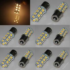 10x Warm White 1156 P21W Ba15s 18 5050 SMD LED Tail Turn Signal Light Bulb Lamp