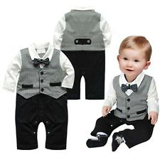 Boy Baby Kids Toddler Gentleman One-piece Romper Jumpsuit Clothes Outfit Clothes