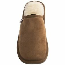 Justin Boots Tan Mens slide slippers Sherpa Lining NEW 8 9 10 11