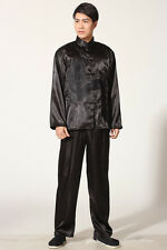 chinese men's kung-fu tai-chi Clothes jacket coat Pants suit size M-XXL