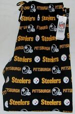 PITTSBURGH STEELERS MEN'S SLEEP LOUNGE PAJAMAS PANTS M L XL 2X NWT BLACK COTTON