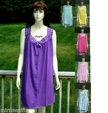 PLUS SIZE ASSORTED COLORS CHEMISE SHORT NIGHTGOWN SLEEPWEAR L