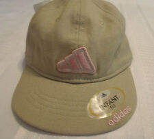ADIDAS Infant or Toddler Hat Cap Choice Cotton NWT Tan Pink Logo Embroidered