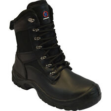 MENS SAFETY BOOTS ARMY MILITARY POLICE STEEL TOE CAP COMBAT TRAINERS WORK SHOES