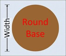 Laser-cut round bases in 2mm or 3mm MDF