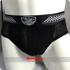 NEW Super Sexy Black Sheer Mesh Boxer Brief underwear shorts Trunk Low Rise