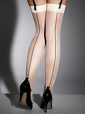 Ann Summers Womens Glossy Nude Plain Top Stockings Thig High Ladies Tights Sexy
