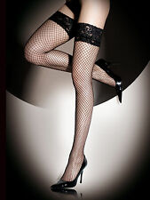 Ann Summers Womens Black Lace Top Fishnet Hold Ups Sexy Stockings Underwear New