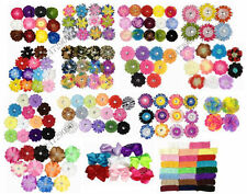 Wholesale Lots Party Daisy Flower Clip Crochet Girls Baby Lady Hair Bow YHA0001