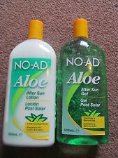 NO-AD ALOE VERA AFTERSUN AFTER SUN LOTION CHOOSE YOUR TYPE. HUGE 500ml.