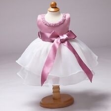 Baby Girls Infant Outfit Tutu Skirt Dress +Flower Headband XMAS Clothes SZ 6-24M