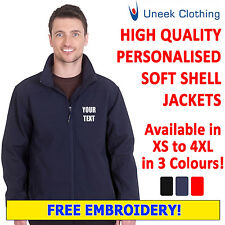 Personalised Uneek Soft Shell Jacket with Customised Free Text Embroidery UC612