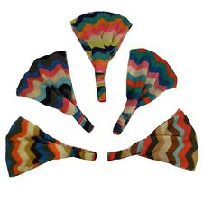 Soft Wide Colorful Chevron Pattern Boho Style Head wrap Yoga  Ladies Headband