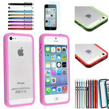 TPU Bumper Frame Silicone Gel Rubber Color Skin Case Cover for Apple iPhone 5 5S