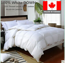 WHITE DOWN DUVET COMFORTER  FILLED IN CANADA TWIN FULL QUEEN KING