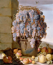 "Luca Forte : ""Still Life with Grapes and other Fruit"" (1630s) — Fine Art Print"