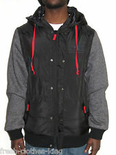 Fatal Clothing Jacket New $69.50 Removable Sleeve Hoodie Full Zip Choose Size