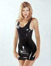 Sharon Sloane Latex Mini Robe Lingerie Sexy Bondage en Caoutchouc robe fantaisie fun