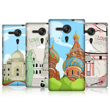 HEAD CASE DESIGNS DOODLE CITIES SERIES 3 BACK CASE FOR SONY XPERIA SP C5303