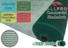 Commercial/Horticultural Shadecloth/Shade Cloth 30% 1.83M x 50M Green OR Black