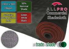 Commercial/Horticultural Shadecloth/Shade Cloth 50% 1.83Mx50M Black/Green/White