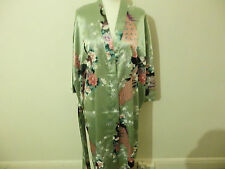 JAPANESE KIMONO CHINESE DRESSING GOWN SIZE 8-SIZE 26 SILK FEELING ROBE