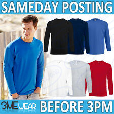 FOTL LONG SLEEVE T-SHIRT,PLAIN BLANK WORK TOP UNISEX MEN WOMEN PACK ADULT 61038