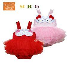 "New Baby Girl "" Hello Kitty"" Romper Jumpsuit Birthday Party Tutu Dresses  6M-24M"