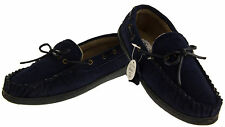 Mens LEATHER FOUR SEASONS Warm Lined Moccasins Full Backed Men Shoe Slippers