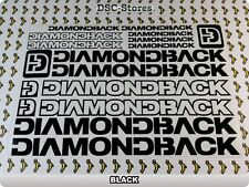 "17 Set DIAMONDBACK Decals Stickers Frames Bicycles 11"" COLORS Available A57A"
