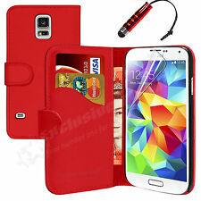 NEW LEATHER FLIP WALLET CASE COVER FOR SAMSUNG GALAXY S5 FREE SCREEN PROTECTOR