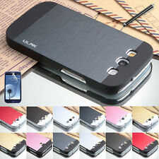 Hybrid Metal Brushed Aluminum Hard Slim Case Cover For Samsung Galaxy S3 i9300