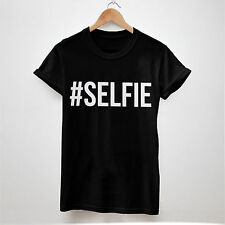 #SELFIE T SHIRT MEN WOMEN TOP UNISEX SELFIE CHAINSMOKERS CHAIN SMOKER FUNNY SONG