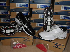 NIB Mens Mizuno Speed Trainer G3 Switch Turf Baseball Cleats Shoes Black White