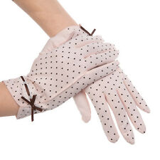 Kenmont Summer Women Dots Sun UV Protection Outdoor 100% Cotton Driving Gloves