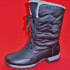 NEW Women's TOTES RHONDA Black Winter/Rain Faux Fur Insulated Waterproof Boots