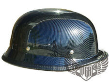 Low Profile Carbon Fiber German Style DOT Motorcycle Half Helmet Chopper Airsoft