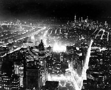1937 NEW YORK CITY NIGHT VIEW FROM EMPIRE STATE PHOTO