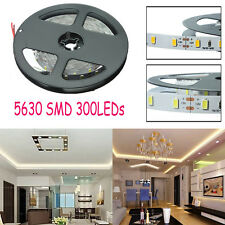 Tira Luz 5M 300 LED 5630 SMD DC 12V Puro/Blanco Cálido Flexible Super Brillante
