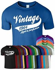 New Vintage1964 50th Birthday Present Funny Gift T Shirt of All Sizes L M S XL