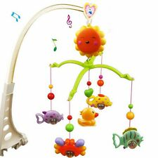 Crib Music Bell Ring Rotating The Children Baby Bed Animals Toys Decoration New