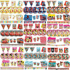 Disney Party Tableware Packs for 8 Mickey Minnie Cars Decorations Planes Princes