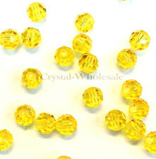 Light Topaz (226) Swarovski Elements 5000 Crystal Round Beads 4mm 6mm 8mm